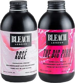 (2 PACK) Bleach London Super Cool Colours Rose x 150ml & Bleach London Super Cool Colours The Big Pink x 150ml