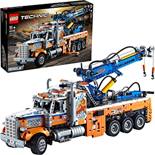 LEGO 42128 Technic Heavy-Duty Tow Truck with Crane Toy Model Building Set, Engineering for Kids Series