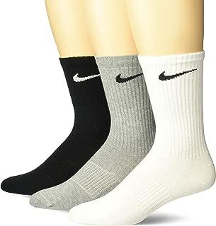 Men's Lightweight Crew Socks (Pack of 3) (X-Large, Multi Coloured)