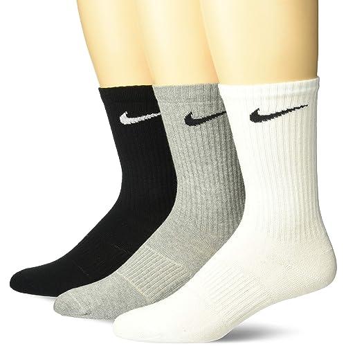 Nike Lightweight Crew, Pack de 3 Calcetines Unisex para Adulto, Multicolor (Gris/
