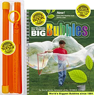 Bubble Thing Big Bubbles Wand and Book. 2,000,000 Sold. 2019 TOP Toy and Book. (See Our Videos).