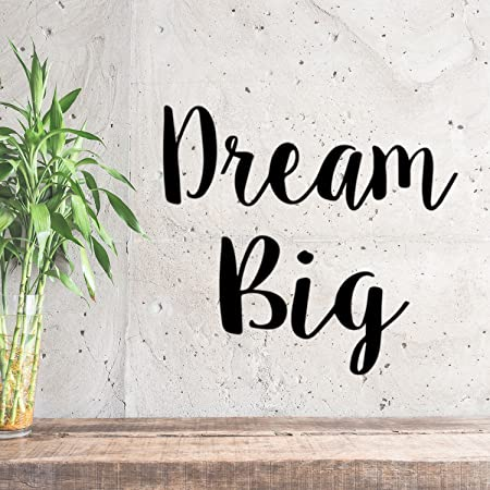 Vinyl Wall Art Decal Just Believe in Your Dreams Trendy Cool Inspirational Cute Positive Quote Sticker for Bedroom Kids Room Playroom Daycare Classroom School Office Decor 16.5 x 22.5 White