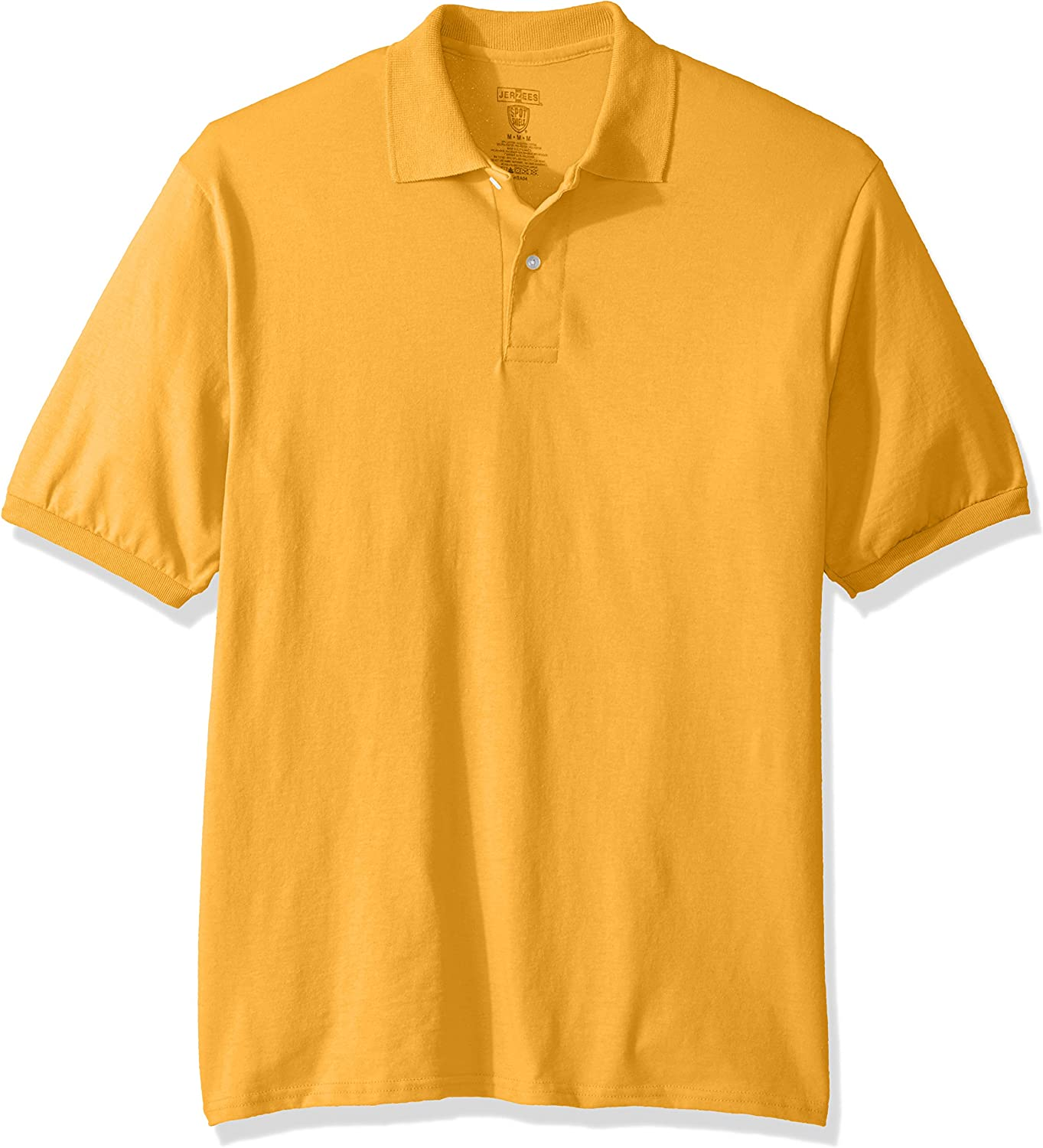 Jerzees Men's Max 58% OFF Spot Shield Short Sleeve 3 Sport Gold Shirt Polo Today's only