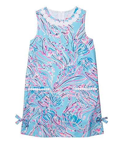 Lilly Pulitzer Kids Little Lilly Classic Shift Dress (Toddler/Little Kids/Big Kids) (Bayside Blue Under The Moon) Girl