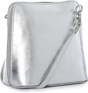 bc4f2318c8 Genuine Vera Pelle Women Cross body Italian Leather Small Mini Shoulder Bag  Handbag