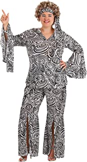 Plus Size Women's Foxy Lady Disco Dance Groovy Costume