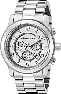 Men's Oversized Chronograph Watch - Silvertone