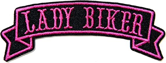 LADY BIKER Rider Motorcycles Jacket T shirt Suit Patch Iron on Embroidered Applique Sign Badge Costume