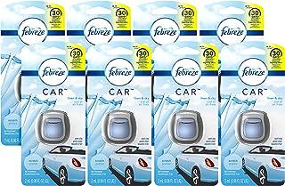 Febreze Car Vent Air Freshener, Linen and Sky, 0.48 Ounce, 8 Count