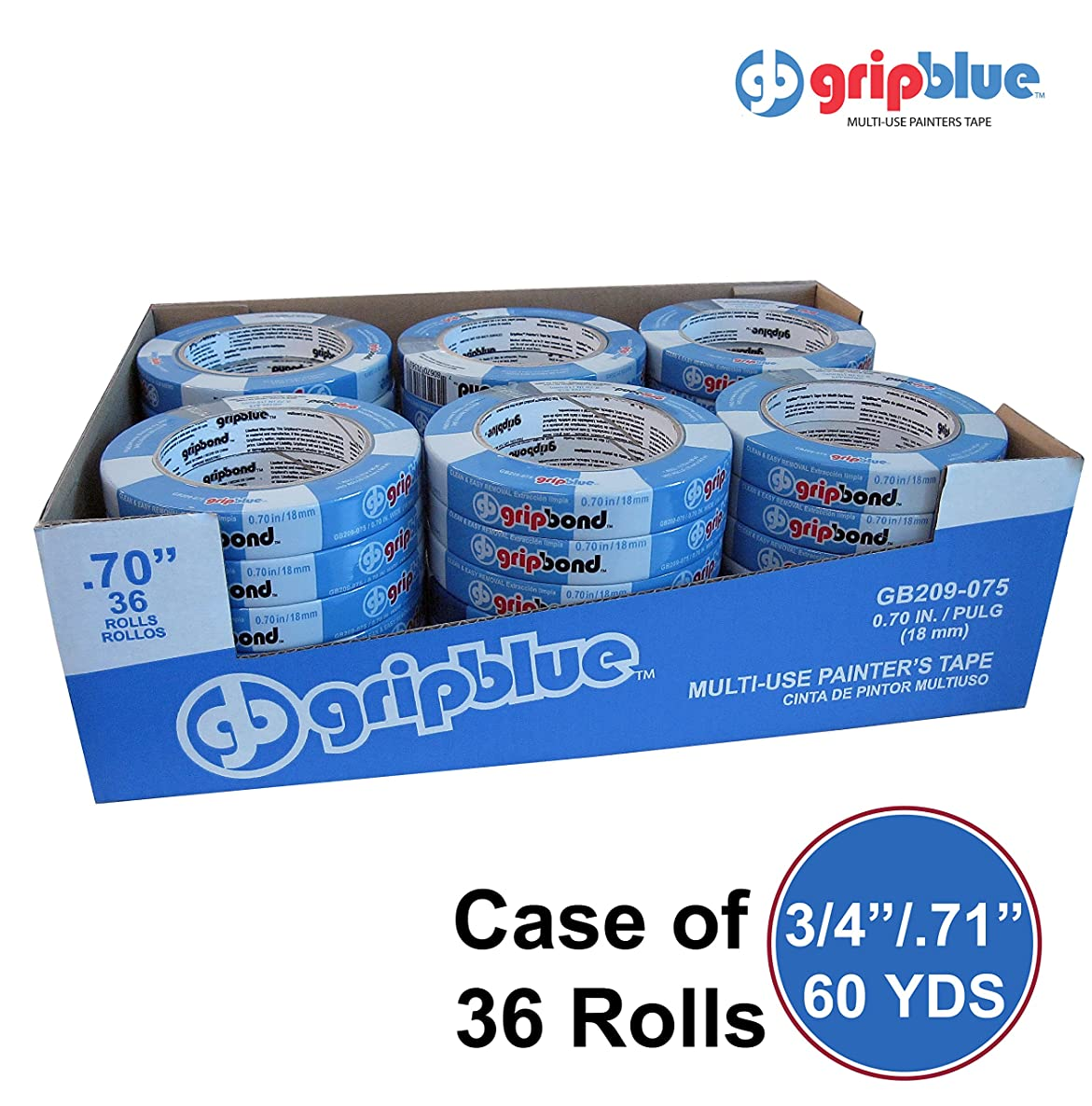 """GripBlue Multi-Use Blue Painters Tape 