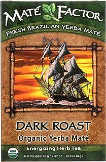 The Mate Factor Organic Yerba Mate Dark Roast - 20 Tea Bags