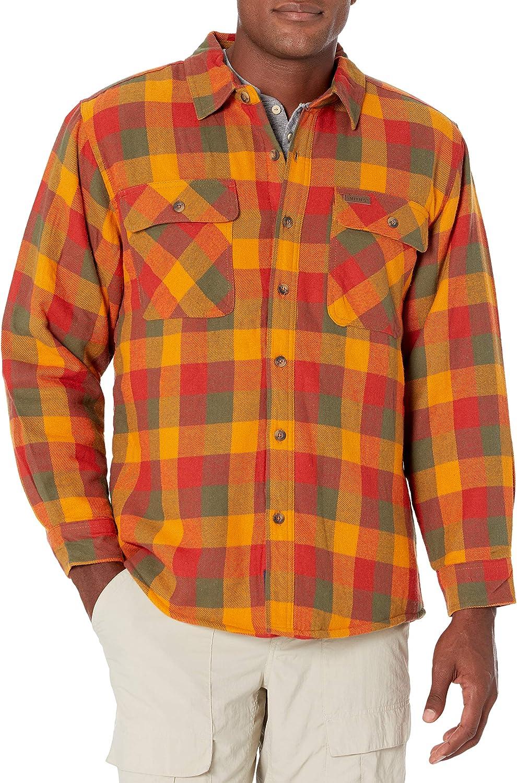 Smith's Workwear Men's Sherpa Lined Flannel Shirt Jacket