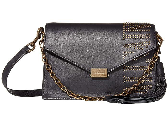 AllSaints  Nina Stud Crossbody (Black) Handbags
