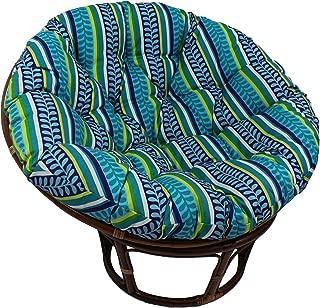 Blazing Needles Solid Outdoor Spun Polyester Papasan Cushion, 44