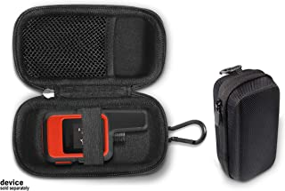 Handheld GPS case Compatible with Garmin inReach Mini, Compact and Light Weight Strong case, mesh Accessory Pocket,Elastic Security Strap, with Carabiner Hook, Note: fit for Garmin InReach Mini only