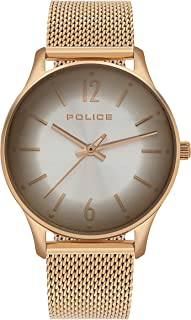 Police Makati Analogue Rose Gold Case, Silver Dial And Rose Gold Watch For Women - PL 15574MSR-04MM