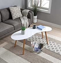 Convenience Concepts Coffee Table, White/Bamboo
