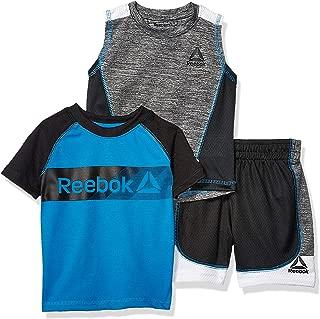 Reebok Baby Boys Sleeve Athletic T-Shirt, Tank Top, and Short Set