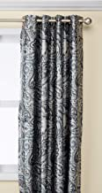 Blackout Curtains For Bedroom, Traditional Grommet Grey Window Curtains For Living Room Family Room, Jenelle Paisley Therm...