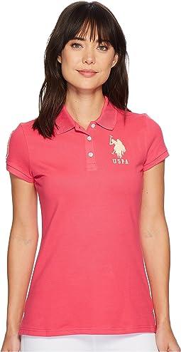 Neon Logos Short Sleeve Polo Shirt