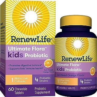 Renew Life Kids Probiotic - Ultimate Flora Kids Probiotic Supplement - Shelf Stable, Gluten, Dairy & Soy Free - 1 Billion ...