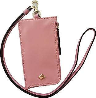 Kate Spade New York L-Zip Dawn Card Case Lanyard Pink