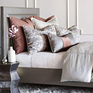 Eastern Accents Tradita Luxury Glam Blush Geode Metallic King, 8 Piece Bed Set