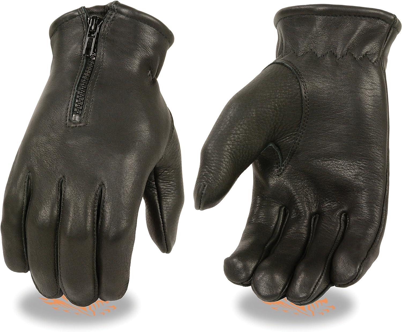 Men's Ultra Sales results No. 1 Soft Deerskin Thermal w Glove Very popular Lined Zipper