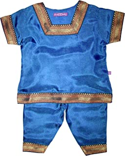 Girls' Indian Infant Outfit - 100% Silk - 0-12 Months