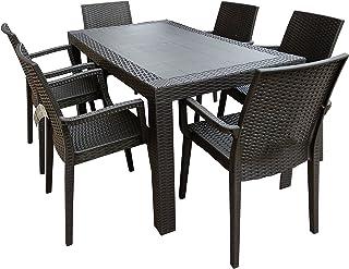 Tavolo Da Giardino In Plastica Con Sedie.Amazon It Mobili Da Giardino 4 Stelle E Piu