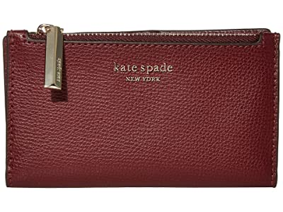 Kate Spade New York Sylvia Small Slim Bifold Wallet (Cherrywood) Cosmetic Case