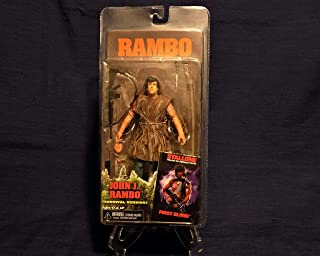 NECA Rambo First Blood Year 1982 Movie Series 7 Inch Tall Action Figure - Survival Version JOHN J. RAMBO with Alternative ...