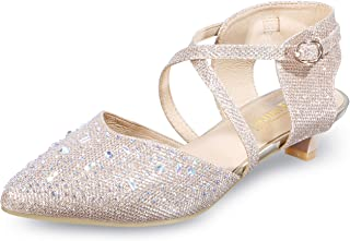 Women's Sequins Wedding Kitten Small Heel Shoes Ankle...