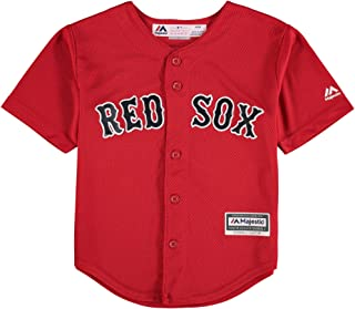 OuterStuff Majestic Andrew Benintendi Boston Red Sox #16 Youth Alternate Jersey Red (Youth Medium 10/12)