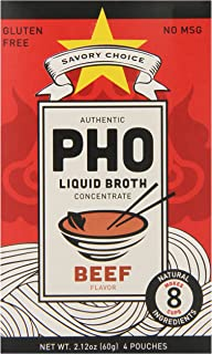 Savory Choice Pho Liquid Broth Concentrate, Beef, 2.2 Ounce (Pack of 12)