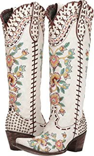 Double D Ranchwear by Old Gringo Women's Almost Famous Crackled Taupe 9 B US