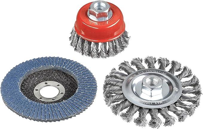 85 opinioni per kwb 597510 Set di spazzole Metalliche per smerigliatrice angolare con Attacco