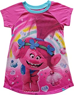 Trolls Poppy Sleep Wear Gown with Cupcakes and Rainbows