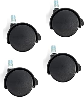 kippen 1614K1 Juego de 4 ruedas gemelas de 40 mm con placa giratoria