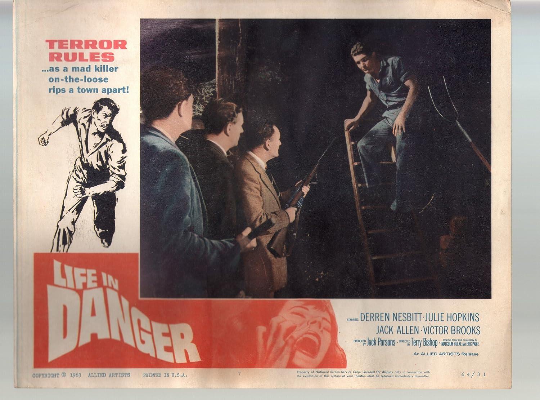 High order MOVIE POSTER: Life In Danger-Derren Hopkins-11x14- Los Angeles Mall Nesbitt-Julie