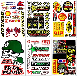 Motorcycles Extreme Racing Graphics Lot 6 Vinyl Stickers Decals D6066