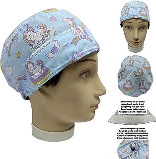Cuffietta chirurgica UNICORNS per Capelli Corti UNISEX chirurgo, dentista, veterinario, Asciugamano da cucina sulla fronte...