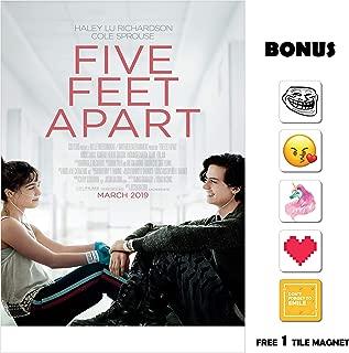 Movie Poster Five Feet Apart 13 in x 19 in Poster Flyer Borderless + Bonus 1 Free Tile Magnet