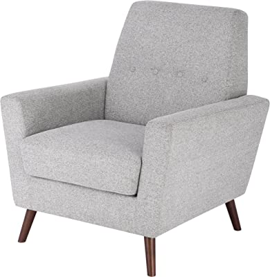 Spatial Order Kaufmann Modern Accent Chair with Button Tufting, Ash Grey