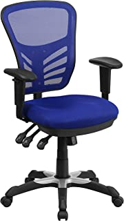 Flash Furniture Blue Mid-Back Mesh Chair