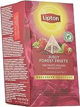 Lipton Selección Exclusiva Té Negro Frutos Del Bosque - 6 Cajas Con 25 Pirámides