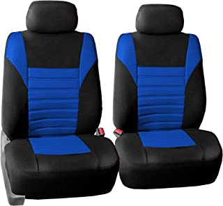 FH Group FH-FB068102 Premium 3D Air Mesh Seat Covers Pair Set (Airbag Compatible), Blue/Black Color- Fit Most Car, Truck, SUV, or Van