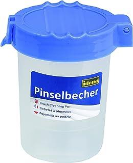 Wasserbox mit 2 Tanks blau Deckelfarbe Pinselbecher