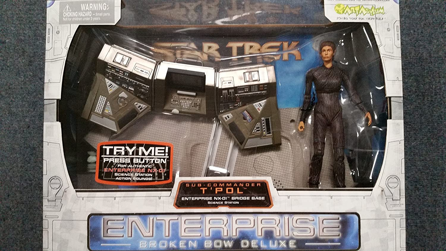 Star Trek Enterprise Broken Bow Deluxe with SubCommander T Pol Action Figure Playset