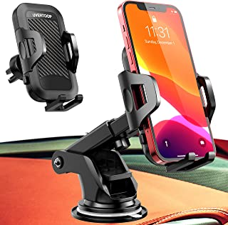 UVERTOOP Car Phone Mount, Universal Cell Phone Holder for Car Air Vent Dashboard Windshield [Strong Suction & Durable] Car...